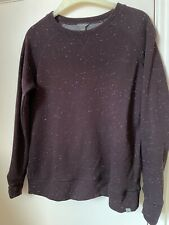 Eddie Bauer USA Sweatshirt Size Large Deep Purple Speckled Easy Care Fabric