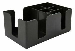 Plastic Classic Bar Caddy Black, Bar Storage, Bar Organiser, Bar Condiment Caddy