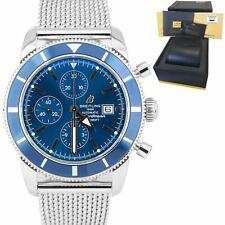 Breitling Superocean Heritage Azul Cronógrafo Reloj De Acero Malla A13320 46mm