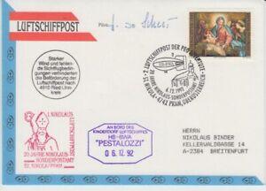 Zeppelin - Luftschiff - Beleg   Österreich  1992