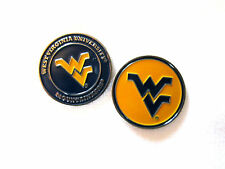 NCAA West Virginia WV Golf Ball Marker Enamel Metal Team Logo 2 Sided Hat