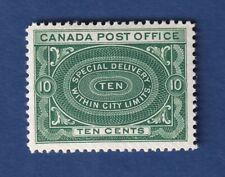 Canada stamps E1 10c blue green Special Delivery VFMOG CV$ C400+ c details