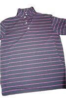 Peter Millar Summer Comfort Striped Golf Polo Shirt Medium Short Sleeve Stretch