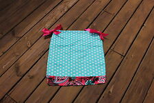 New Girls Teal Dot & Hot Pink Paisley Trim Pillowcase Dress Fits 4Years-6years