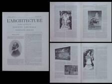L'ARCHITECTURE N°21 1901 ART NOUVEAU, SALON 1901, GIROU DE BUZAREINGUES, GASQ