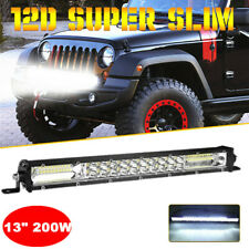 13inch 200W LED Light Bar Flood Spot Combo For Offroad SUV ATV 4WD + Bracket