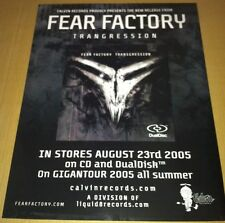 FEAR FACTORY 2005 Retail PROMO POSTER for Transgression CD USA 17 x22 MINT