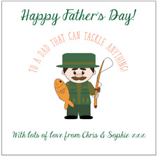 Personalised FATHERS DAY card FISHING fisherman