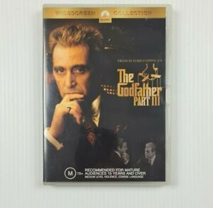 The Godfather Part III (3) DVD - Andy Garcia -  Region 4 - TRACKED POST