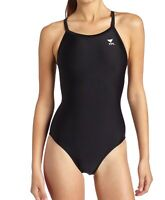 TYR Womens Swimwear Black 28 Performance Diamond-Fit Durafast Swimsuit $59 425