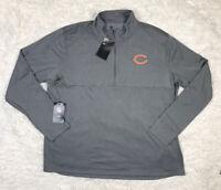 Nike NFL Chicago Bears Dri-Fit 1/4 Zip Shirt Men's Size 2XL XXL Grey Thumbholes