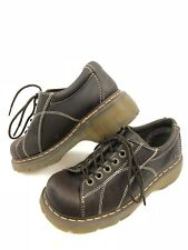 Dr Martens Womens Leather Boots Size US 8 EU 39 UK 6 Dark Brown Low Top Shoes