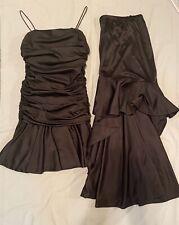 Vtg 80's Lillie Rubin 8 10 Long Formal Dress Detachable Skirt Black Cocktail Euc