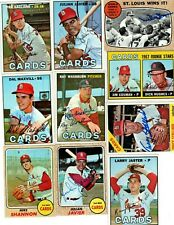 Autographed St. Louis Cardinals 1966 1967 1968 1969 1970 1971 - 2000's 54 picks