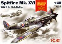 ICM 48071 - 1/48 Spitfire MK. XVI British Fighter Aircfraft, WWII, plastic model