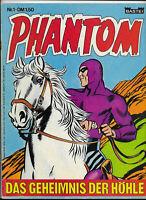 Phantom Nr.1 von 1974 mit Poster - Z1-2 BASTEI KRIMI COMIC-HEFT Lee Falk