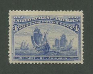 1893 États-unis Envoi Tampon #233 Neuf sans Charnière VF Naturel Gomme Skips