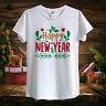 NEW 2021 Happy NEW YEAR (orange,red,green) Christmas design t-shirt Unisex Women