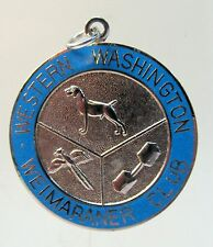 WESTERN WASHINGTON WEIMARANER CLUB enameled medal medallion badge