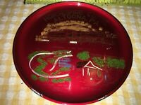 VTG RARE PLASTIC Collector's Plate The Horseshoe Curve Altoona, PA Hand Painted