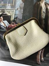 Louis Vuitton Suhali Ziegenleder sac bag Börse Portemonnaie Täschchen Creme