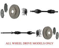 Front Axles Wheel Hub Bearins Rotors & Pads Fits 06-13 IS250 All Wheel Drive
