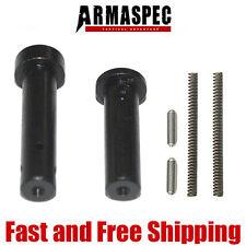 Armaspec Enhanced EZ Install Front and Rear .250 Pins - Black (Concave Tip)