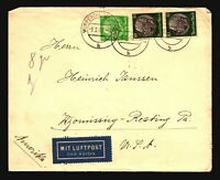 Germany 1940 Censor Airmail Cover to USA - Z16110