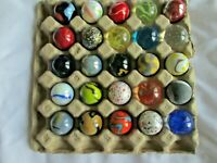 "Bulk Lot 25 - 1"" MEGA Shooter MARBLES,ALL DIFFERENT,FREE PRIORITY SHIPPING"
