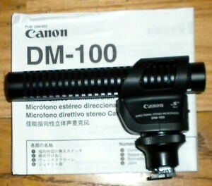 Canon DM-100 Direct/DI Box Cable Professional Microphone w/ Wind Muff - REDUCED