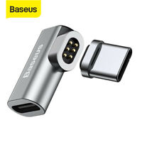 Baseus Type C Cable USB-C to USB-C Magnetic Adapter Connector for Macbook Galaxy