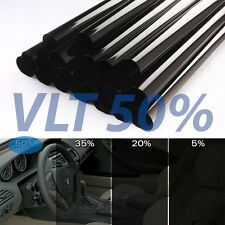 "Uncut Window Tint Roll 50% VLT 25"" 10ft feet Home Commercial Office Auto Film"