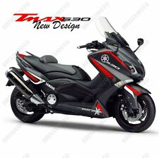 GRAPHICS ADHESIVE STICKERS NEW DESIGN WHITE RED TMAX 530 XP T-Max 2012-2016