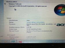 "Gateway LT4101u  10.1"" LED LCD Netbook Intel Atom Black"