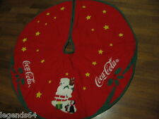 NEW COCA COLA POLAR BEAR & PENGUIN CHRISTMAS TREE SKIRT - RETIRED ITEM