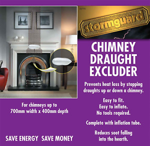 Stormguard Universal Chimney Draught Excluder - Balloon for Chimney sized 10 - x