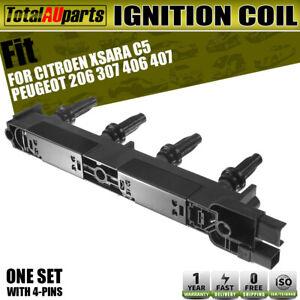 Ignition Coil Fits for Citroen C4 C5 Peugeot 206 307 406 407 1.8L 2.0L 1999-2005