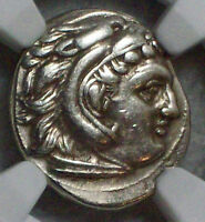 NGC Ancient GREEK 336-323 BC Kingdom Macedon Alexander CH VF Drachm ZEUS EAGLE