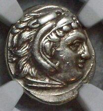 NGC Ancient GREEK 336-323 BC Kingdom Macedon Alexander CH VF Drachm ZEUS EAGLE