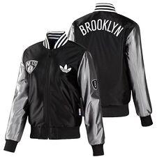 Adidas Originals Brooklyn Nets Satén Chaqueta de bombero NBA mujer deportiva