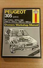 PEUGEOT 305 1978-1989 PETROL HAYNES WORKSHOP MANUAL 538 GOOD USED COPY FREE P&P
