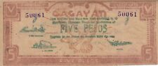 Philippines banknote emergency military 5 pesos Cagayan (1944) P-S192   XF
