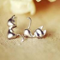 Charm Mini Cute Cat Earrings Vogue Silver Ear Studs Charm Jewelry for Women
