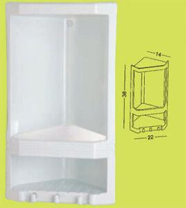 angoliera doccia Junior mensola angolare portaoggetti portasapone Gedy