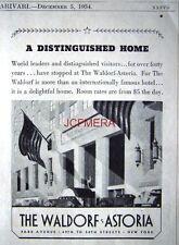 1934 waldorf-astoria hotel park avenue, new york ad-kleiner art deco druck werbung