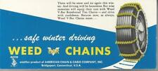 WEED V-BAR CHAINS BLOTTER AMERICAN CHAINS & CABLE COMPANY, INC, BRIDGEPORT CONN
