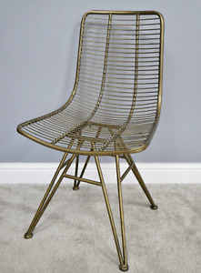 Metal Gold Accent Chair