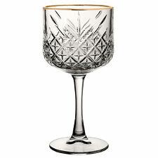 More details for timeless vintage cocktail glasses gold rim 19.25oz / 550ml - case of 12