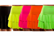 80s Retro Neon Ra Ra Skirt Fancy Dress Hen Party Punk Mod Rock Rocker Rave New