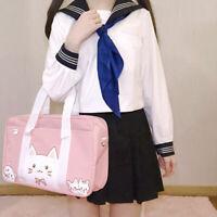 Shoulder Bag Girls Lolita Pink Cat JK Uniform School bag Handbag Messenger Bags